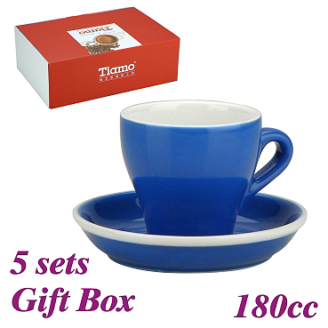 #14 Cappuccino Cup w/ Saucer - Blue (HG0851B)