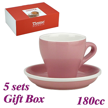 #14 Cappuccino Cup w/ Saucer - Pink (HG0851PK)