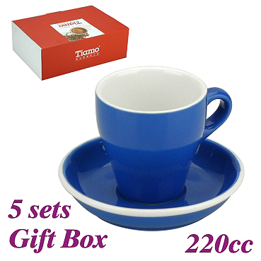 #18 Large Cappuccino Cup w/ Saucer - Blue (HG0852B)