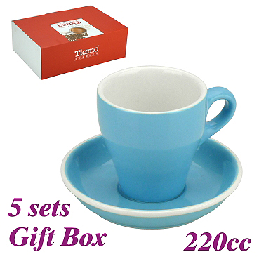 #18 Large Cappuccino Cup w/ Saucer - Baby Blue (HG0852BB)
