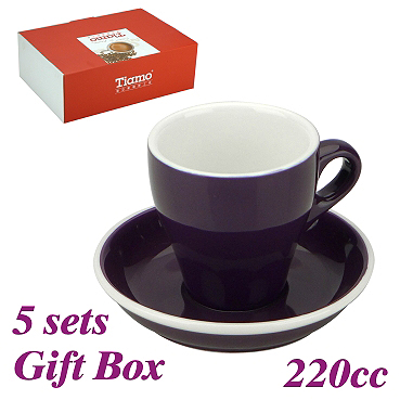 #18 Large Cappuccino Cup w/ Saucer - Purple (HG0852P)