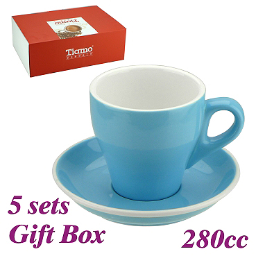 #19 Latte Cup w/ Saucer - Baby Blue (HG0853BB)