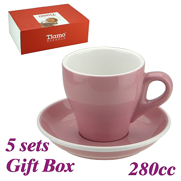 #19 Latte Cup w/ Saucer - Pink (HG0853PK)