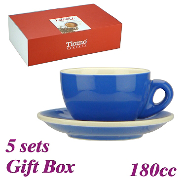 #20 Cappuccino Cup w/ Saucer - Blue (HG0854B)