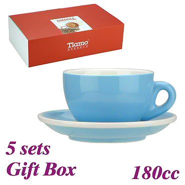 #20 Cappuccino Cup w/ Saucer - Baby Blue (HG0854BB)