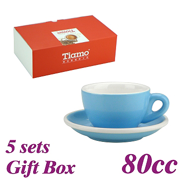 #37 Espresso Cup w/ Saucer - Baby Blue (HG0858BB)