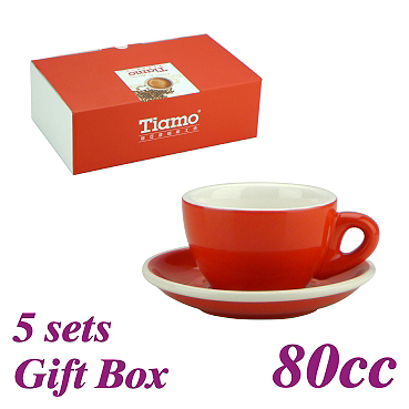 #37 Espresso Cup w/ Saucer - Red (HG0858R)