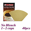 No Bleach Coffee Filter Paper - 40pcs/box (HG2931)