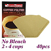 No Bleach Coffee Filter Paper - 40pcs./box (HG3025)
