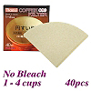 V02 No Bleach Coffee Filter Paper - 40 pcs./box (HG3249)