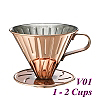 V01 Stainless Steel Coffee Dripper-Bronzed (HG5033BZ)