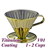 V01 Stainless Steel Coffee Dripper - Titanium Golden (HG5033GD)