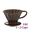 V01 Porcelain Coffee Dripper - Brown (HG5535BR)