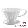 V02 Porcelain Coffee Dripper - White (HG5536W)