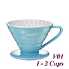 V01 Porcelain Coffee Dripper - Light Blue (HG5543BB)