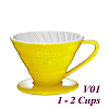 V01 Porcelain Coffee Dripper - Yellow (HG5543Y)