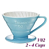 V02 Porcelain Coffee Dripper - Light Blue (HG5544BB)