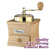 #1232 Coffee Grinder - Gold/Beech Color (HG6126)