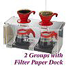 2 Groups Acrylic Drip Station w/ Paper dock (HK0094)